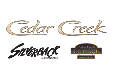 Forest River Cedar Creek Fifth Wheels & Cedar Creek Cottage Park Trailers Logo
