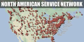North American RV Service Network Map